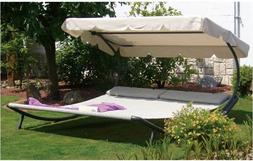 Hammock With Stand 2 Person Chaise Lounge Patio Furniture Sl