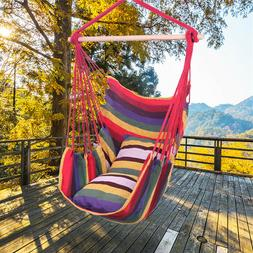 Hanging Rope Hammock Rope Chair Porch Swing Seat Garden Pati