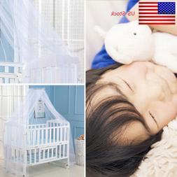 Kids Baby White Mosquito Net Netting Canopy for Nursery Crib