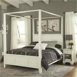 Hawthorne Collections King Canopy Bed in White