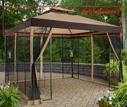 Sunjoy L-GZ038PST-3 Op-Brown Deluxe Canopy Set Replacement 1