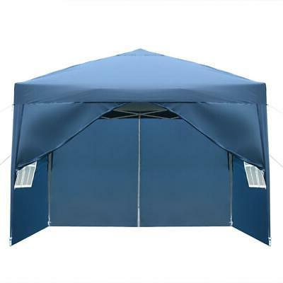 10'x Blue Pop UP Tent Outdoor Folding Wedding