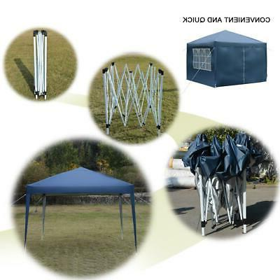 10'x 10' Blue Pop UP Party Outdoor Folding Wedding Canopy
