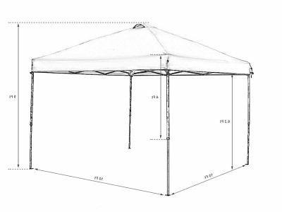 Abba Patio 10-Feet Outdoor Up Portable Shade Instant Folding Canopy