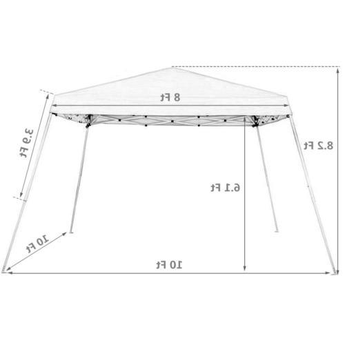 Abba 10-Feet Slant Easy Pop Folding Canopy