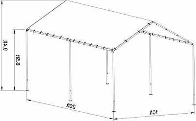 Abba Patio x 20' Metal Light Portable Canopy