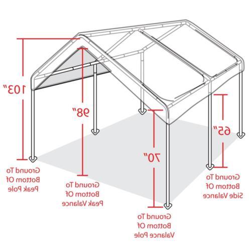 10' Heavy Duty Canopy Tent Steel
