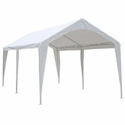Abba Patio 20 Domain Carport Canopy White