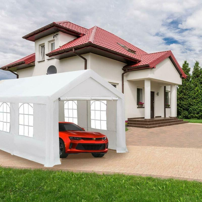 Abba 10 20-Feet Car Shelter With Windows