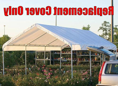 10 20 Roof Top Cover White Tarp for Outdoor Canopy Heavy