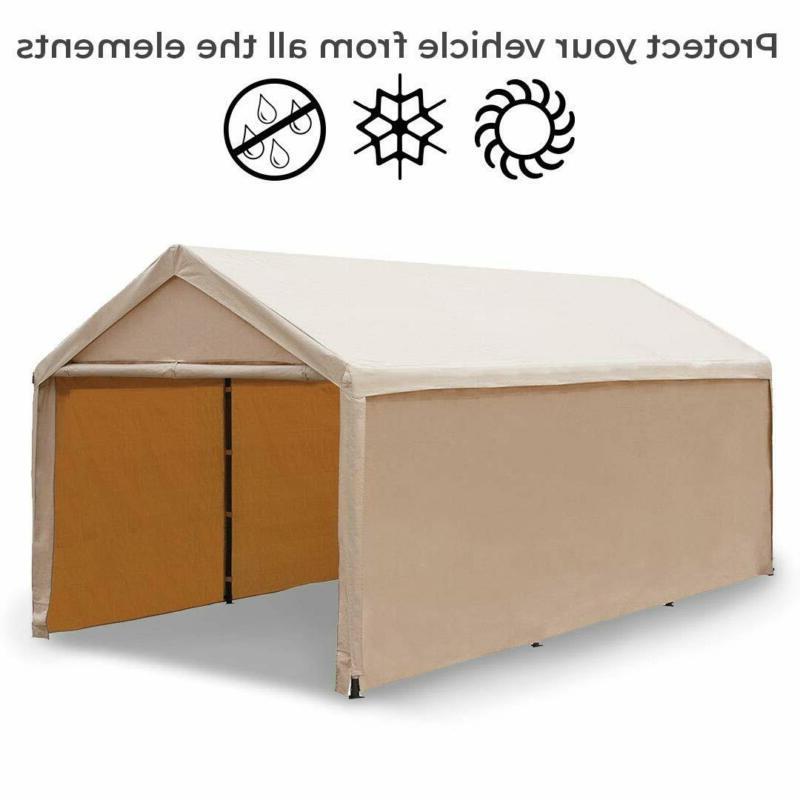 Abba Patio 20 Heavy Beige Car Versatile Shelter Wit