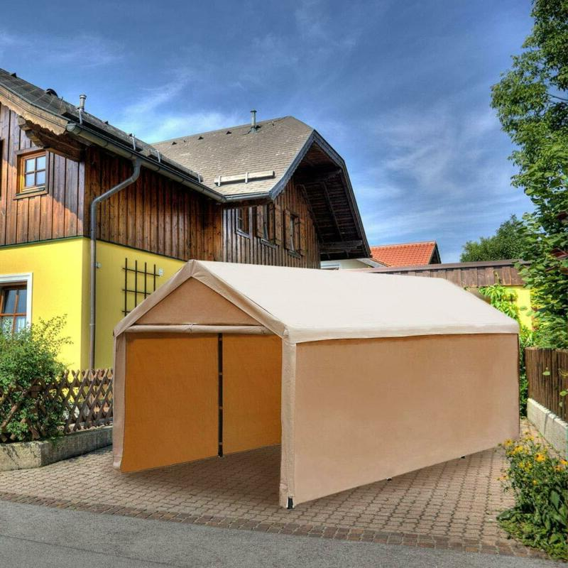 Abba Patio X Beige Carport, Canopy Versatile Shelter Wit