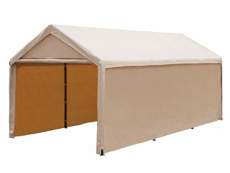 Abba Patio 10 X 20 Ft Heavy Duty Beige Carport, Car Canopy V
