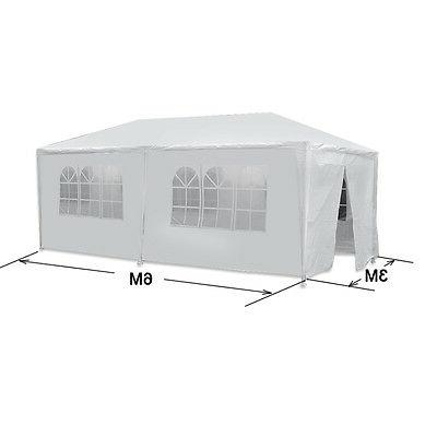 10' x 20' Outdoor Canopy Party Wedding Tent With 6 Walls Gaz