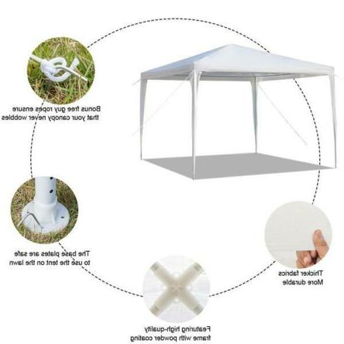 10' Heavy Canopy Tent Carport Car Shelter Steel