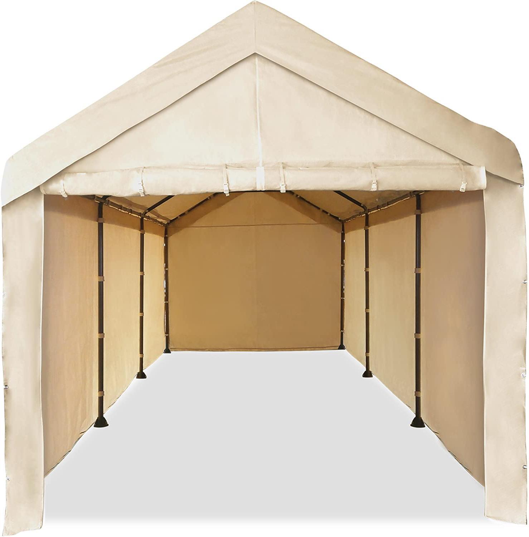 10'X20' Garage Tent Carport Car Shelter Sidewall Canopy Cara