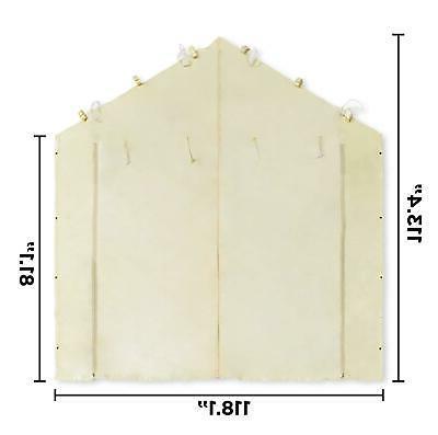 10'X20' Tent Carport Car Sidewall Kit Canopy Cover