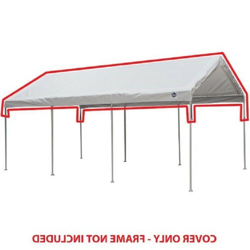 10ft x 20ft white drawstring carport canopy