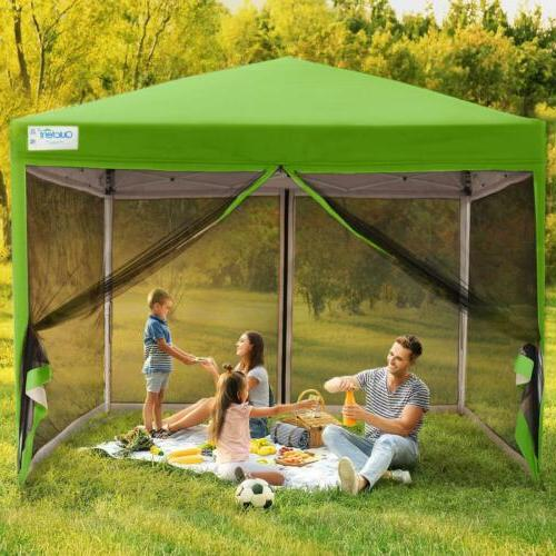 10x10 8x8 pop up canopy with netting