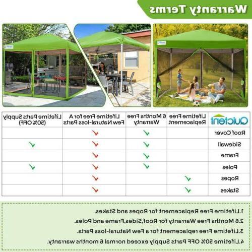 Quictent Canopy 10x10/8x8 Outdoor