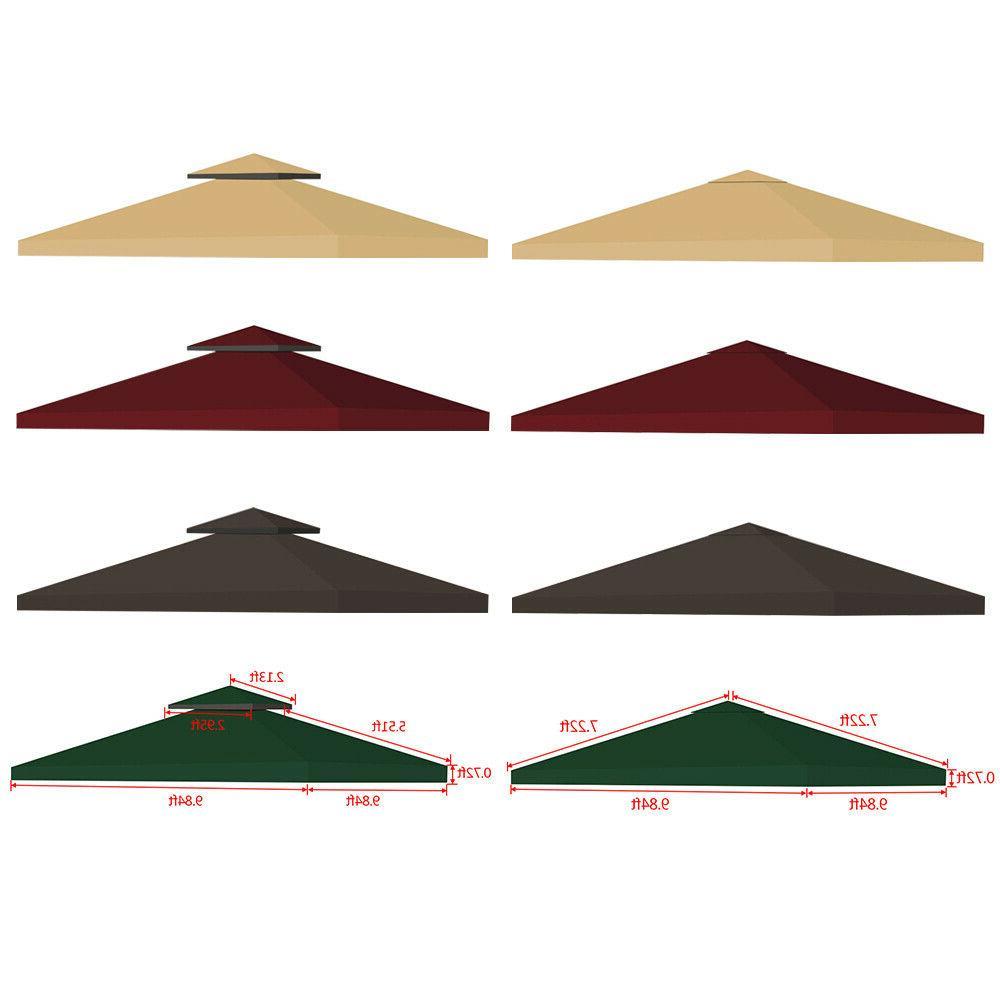 10x10 outdoor gazebo top tent cover pop