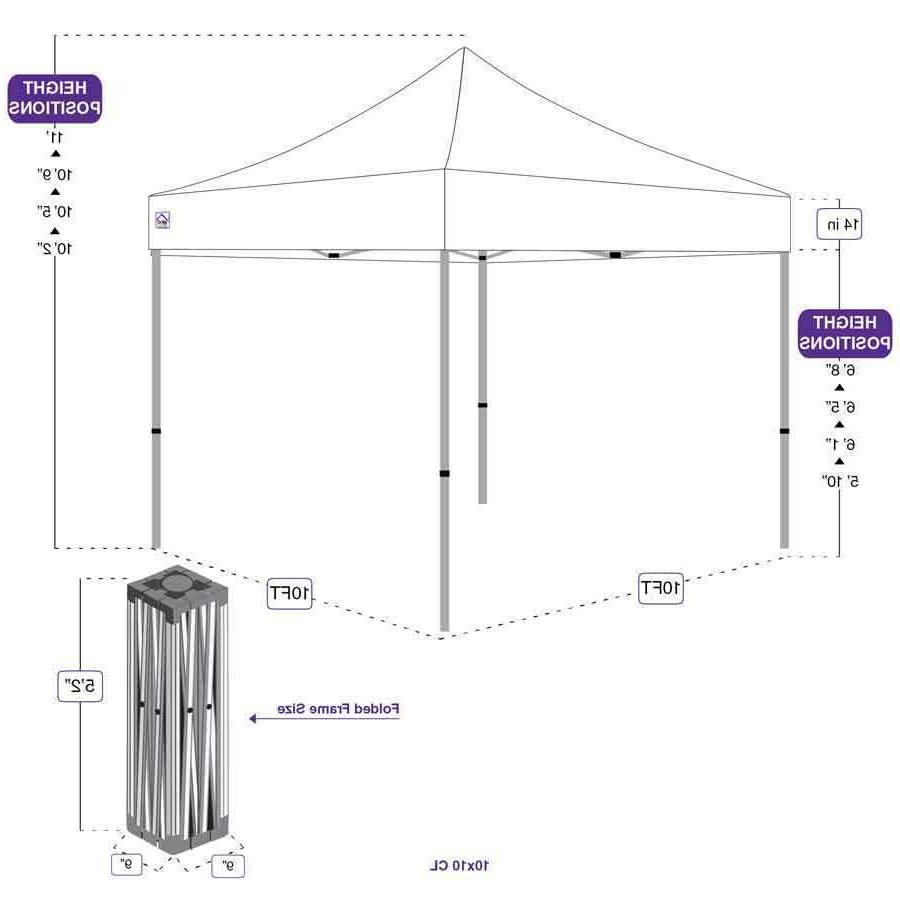Impact 10x10 up Canopy Tent Heavy Duty Steel Event