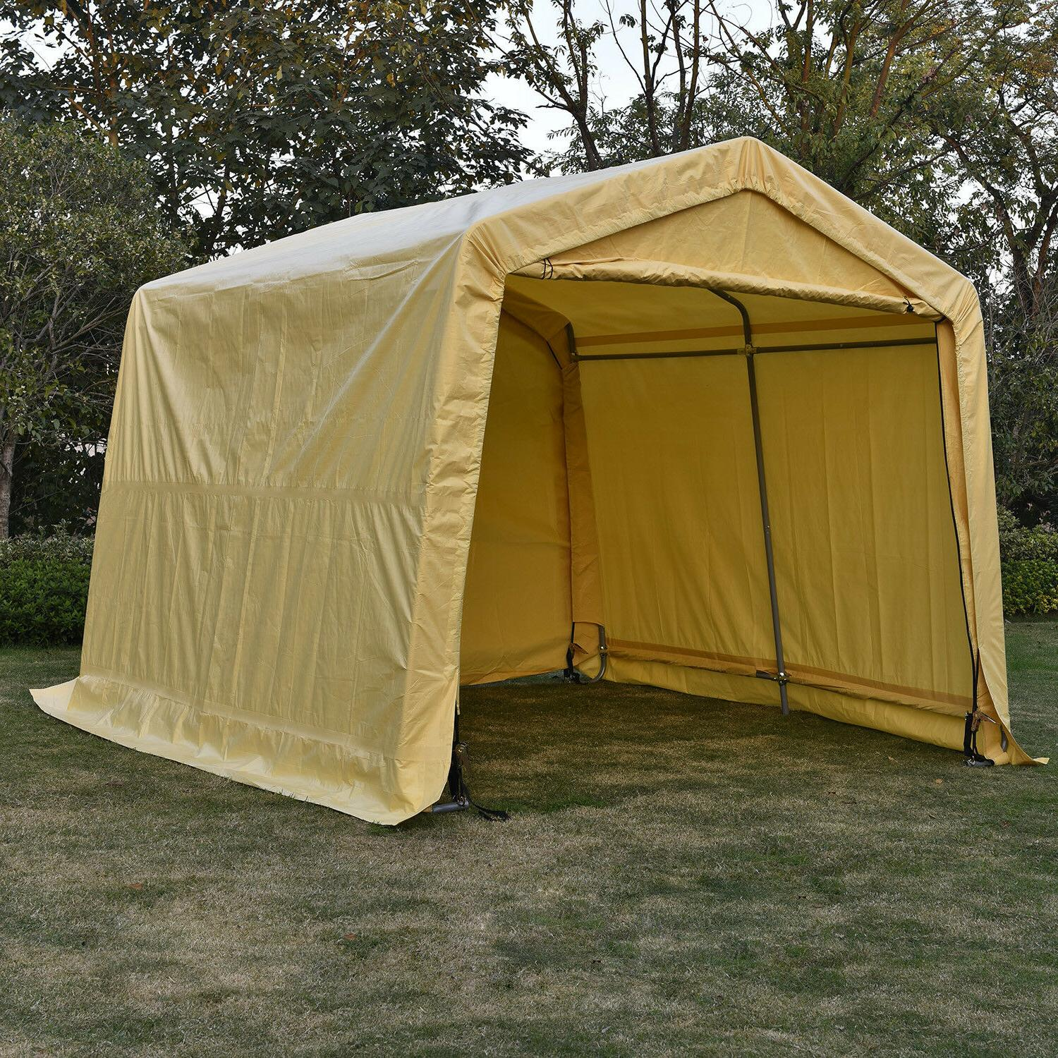 10'X15'X8'FT Storage Shed Tent Shelter Auto Canopy Carport G