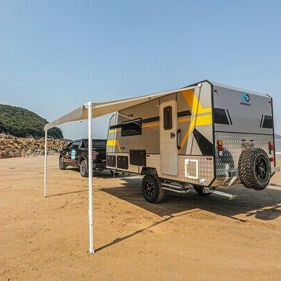 ALEKO® 10X8 Feet Retractable RV Canopy Awning, Grey