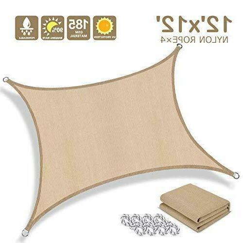 12 x 12 sun shade sail rectangle