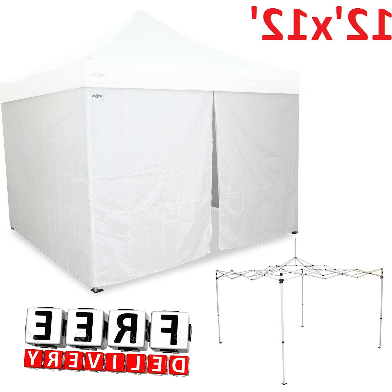 Caravan Canopy 12x12' Portable Shelter Steel Enclosure Side