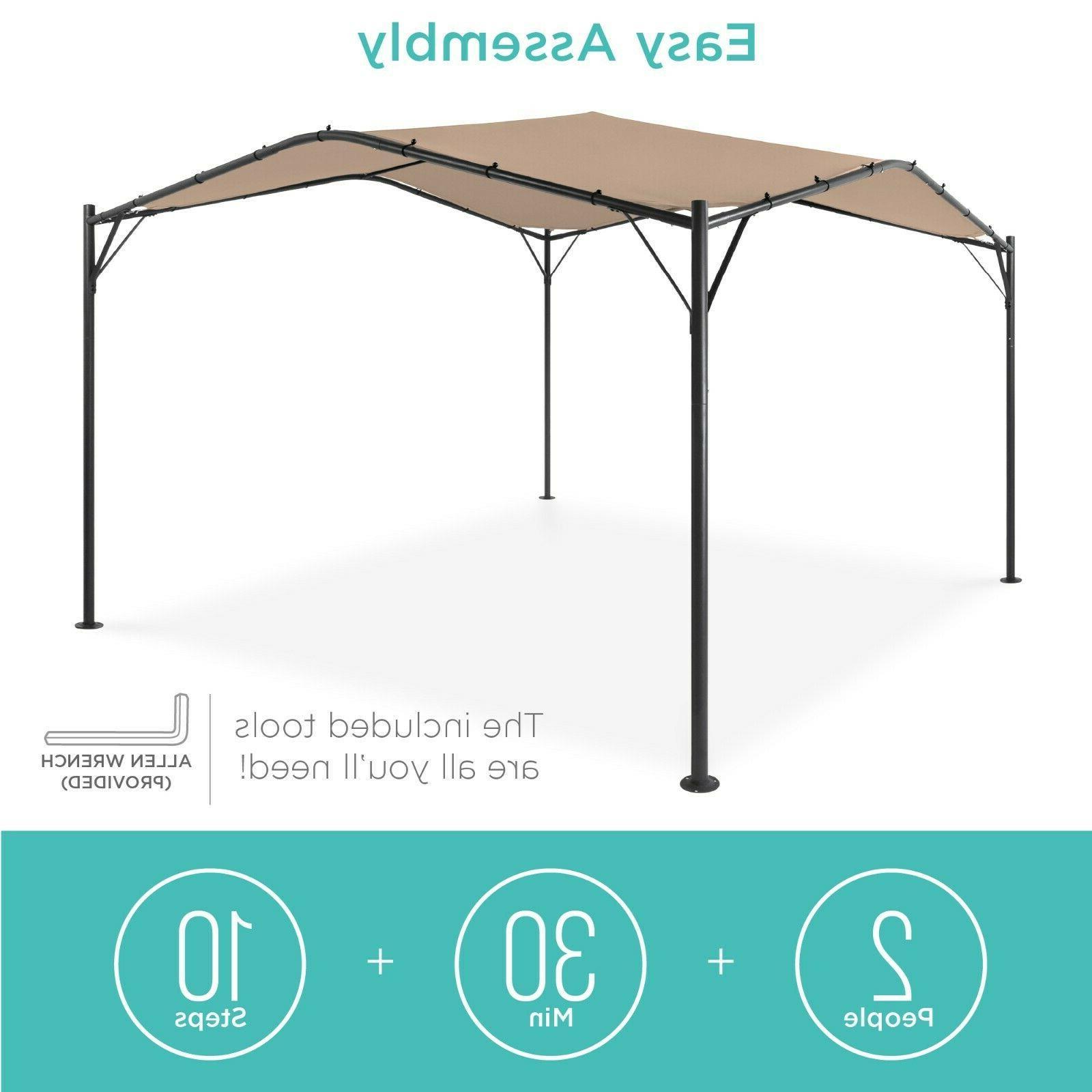 Best Products 12x12ft Gazebo Canopy Backyard w/