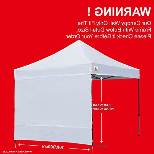 ABCCANOPY Instant SunWall for Feet up Canopy, Sidewall Only,