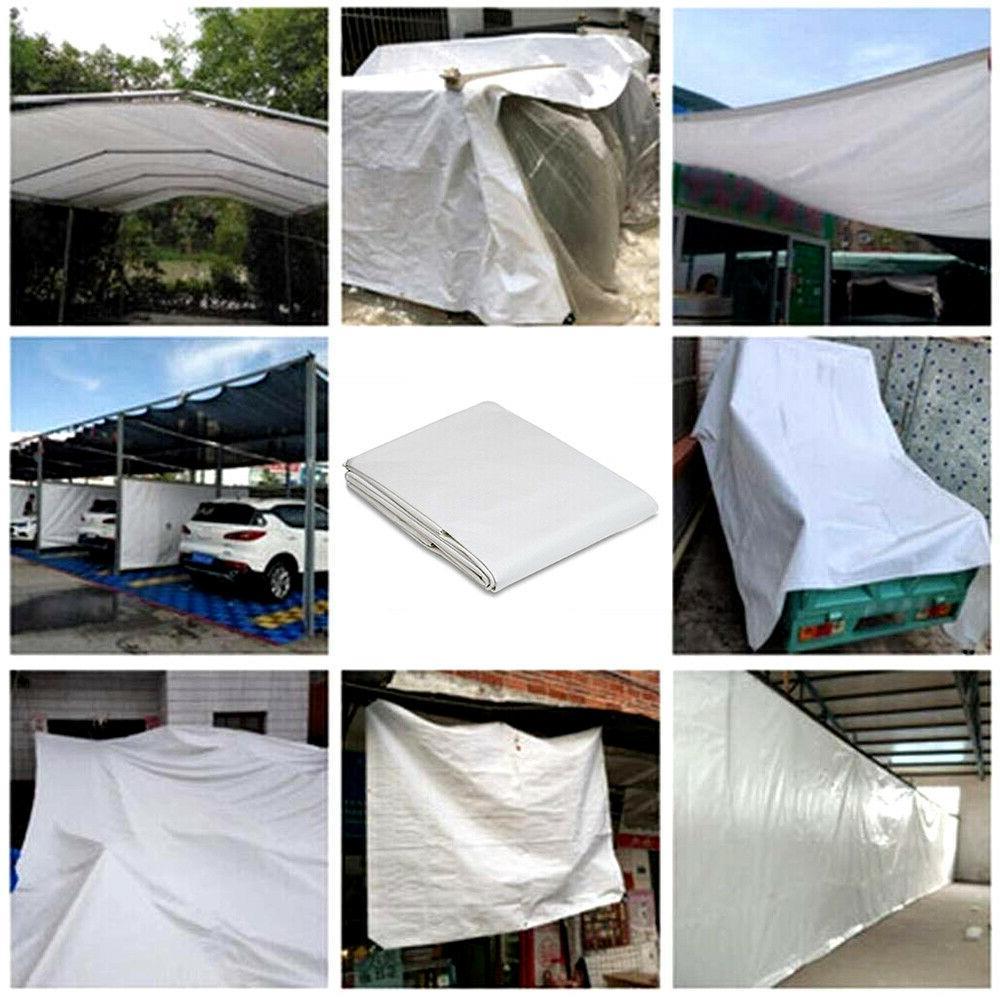 16 Heavy Tarpaulin Tent Shelter Car Boat Cover Waterproof