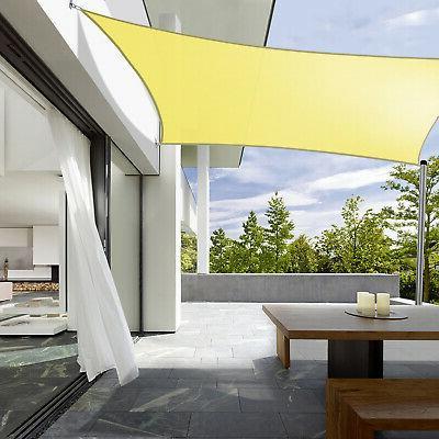 180 GSM Waterproof Sun Sail Garden Patio Pool Canopy Top