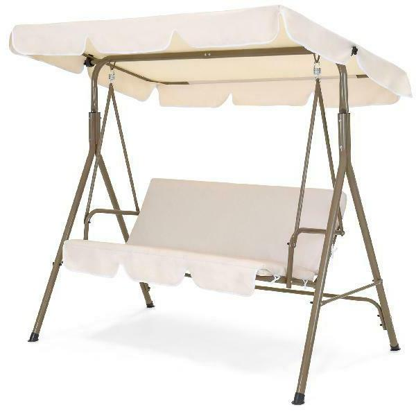 2 person outdoor large convertible canopy swing