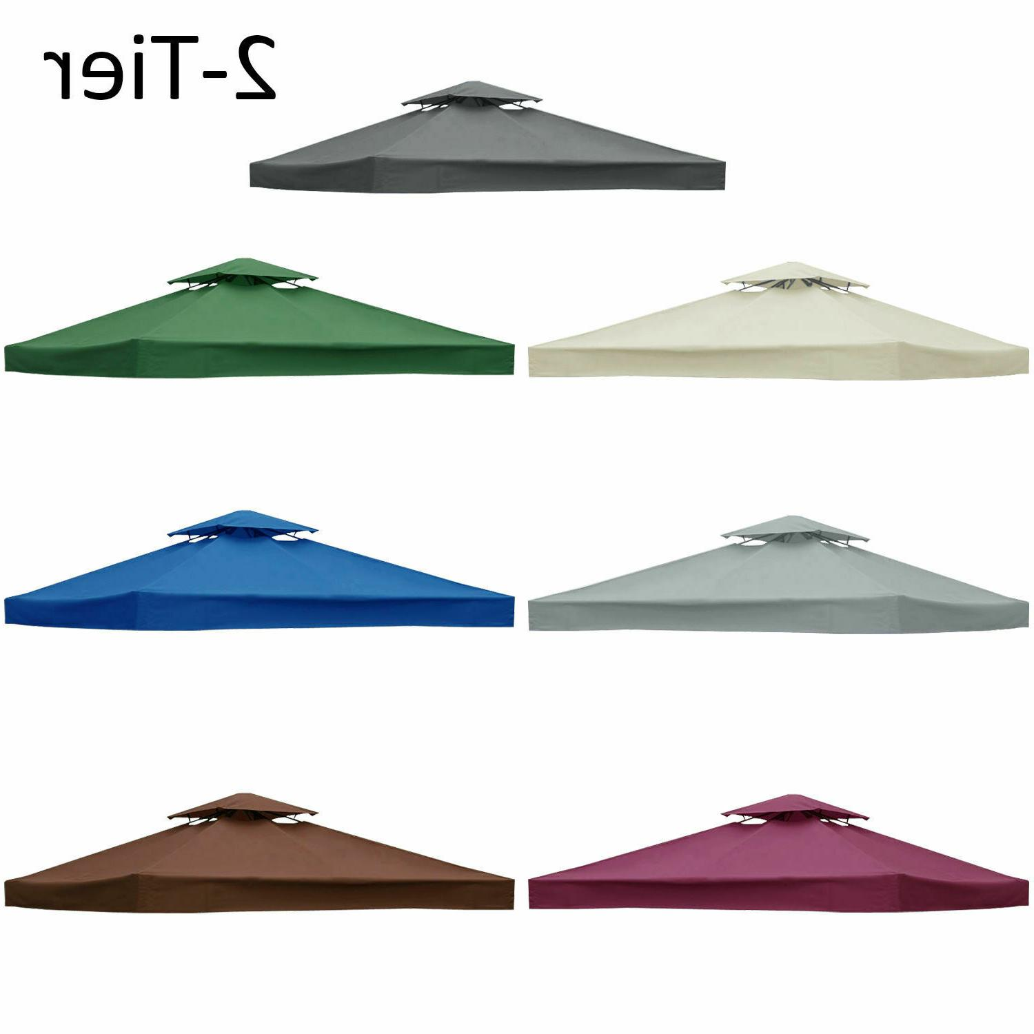 2-Tier 10'x10' Replacement Canopy Tent Garden Outdoor Sunshade Cover