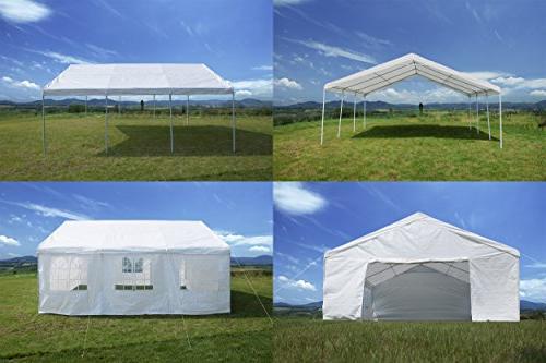 GOJOOASIS 20 x ft Wedding Frame Tent Outdoor Metal 3