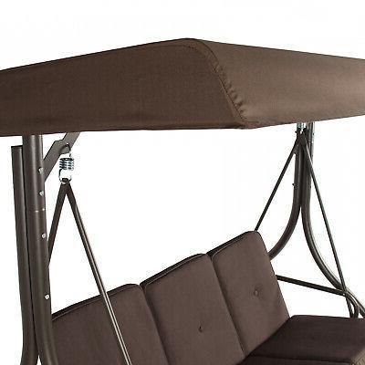 3-Seat Deck Patio Seating Swing Hammock
