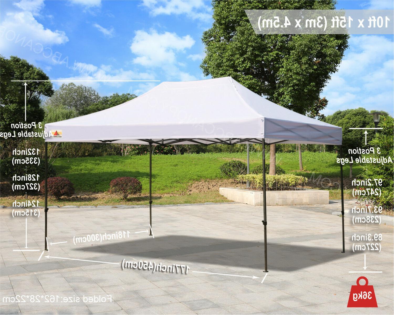 ABCCANOPY 10x15 Pop Up Canopy Shelter Tent Gazebo