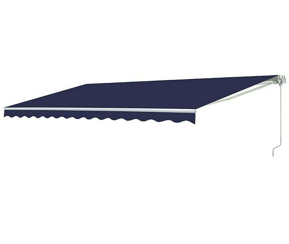 Blue Patio Awning Retractable Awning Outdoor Deck Canopy