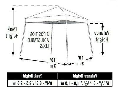 ShelterLogic Canopy Factory Pop-Up Canopy, 10 x