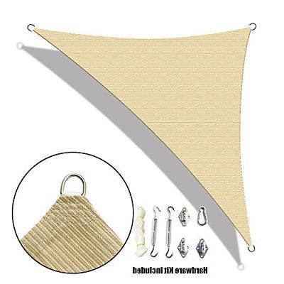 custom right triangle hdpe uv block sun