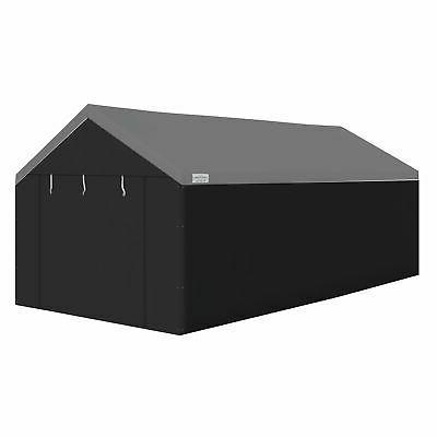domain black car port tent
