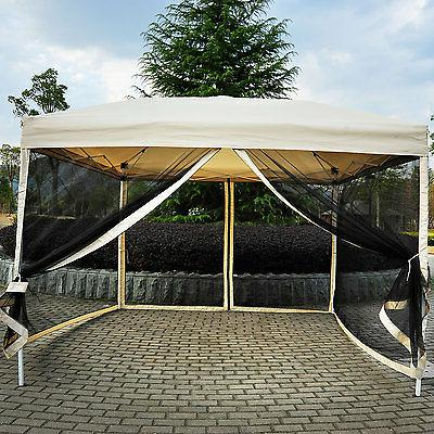 Outsunny 10' x 10' Easy Pop Up Canopy Tent w/ Walls -