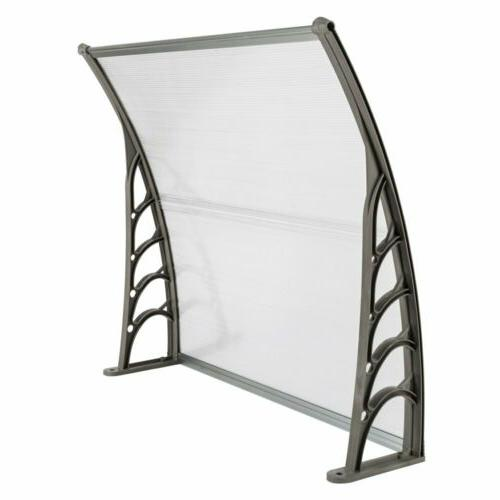 Front Door Patio UV Protected Eaves Canopy Outdoor US