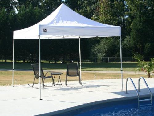 King Canopy 10-Feet by Festival Instant Canopy, White