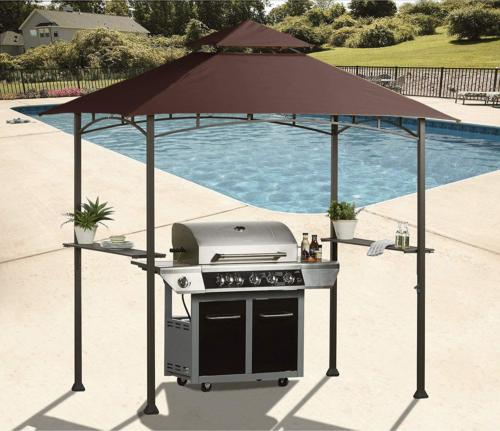 Gazebo Roof Grill Shelter Sunshade