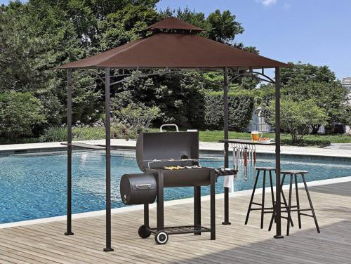 Gazebo Top Roof Grill Sunshade Cover 8x5