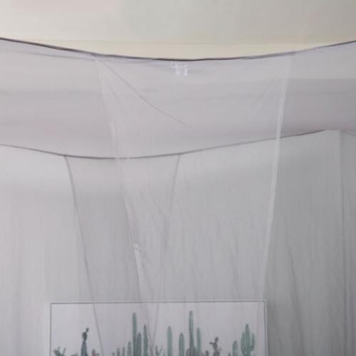 Gray 4 Corner Mosquito Canopy Outdoor