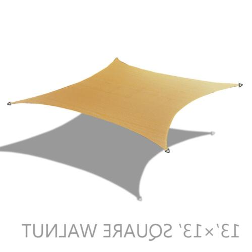 Alion Home HDPE Square Sun Shade Sail Permeable Canopy Custo